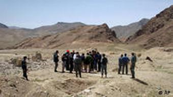 A Chinese delegation visiting the site of a copper mine in Aynak in 2007