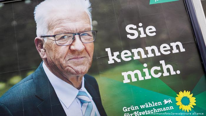 Baden-Württemburg State Premier Winfried Kretschmann's 2021 campaign poster
