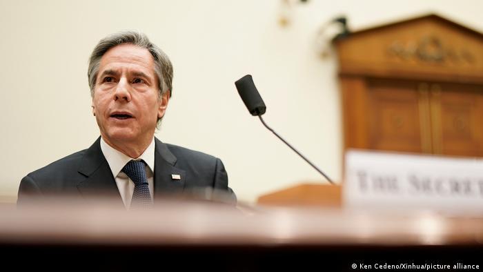 USA Antony Blinken im Auswärtigen Ausschuss des Repräsentantenhauses