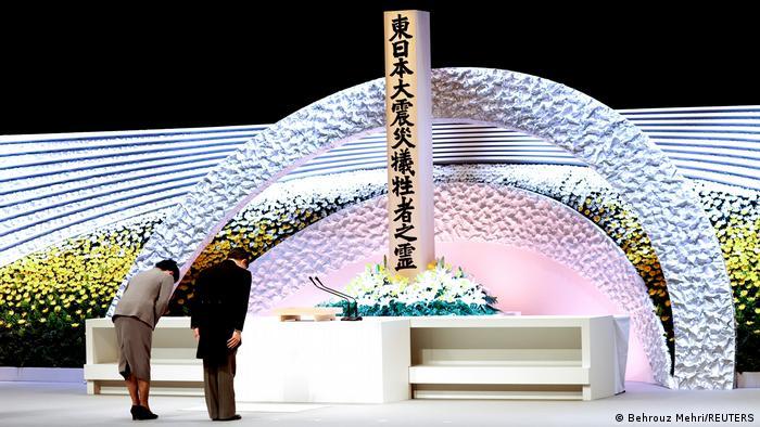 Japan Fukushima Gedenkfeier - Kaiser Naruhito und Kaiserin Masako