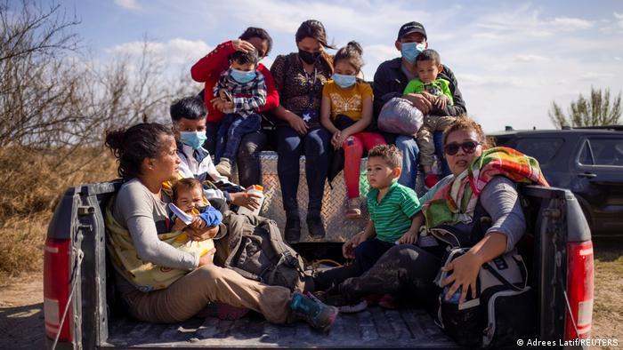 USA Migranten Grenze Mexiko Texas USA