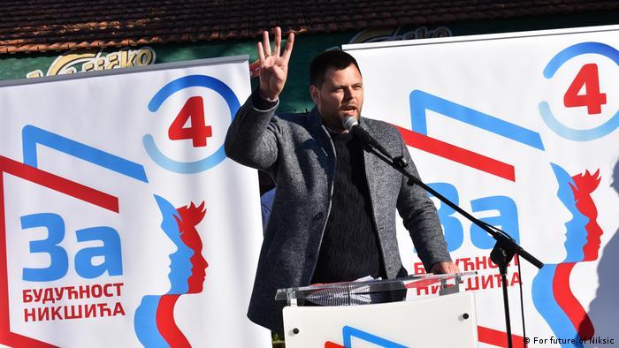 Marko Kovačević na mitingu
