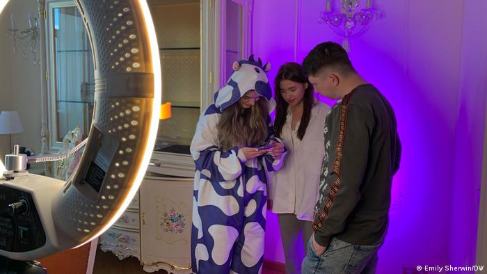 Bloggers in the TikTok house in Moscow