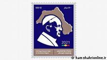 Kurdische Briefmarke Papst