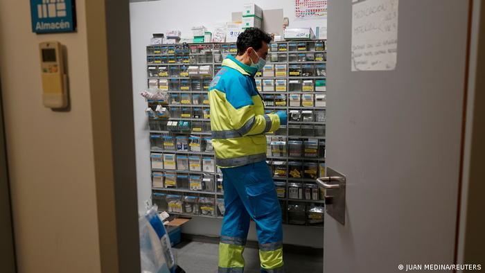 Spanien Madrid COVID-19 Notaufnahme Ärzte