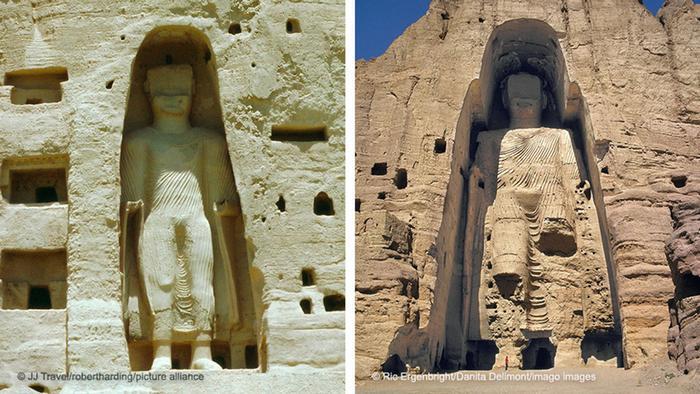 Las estatuas de Bamiyán.
