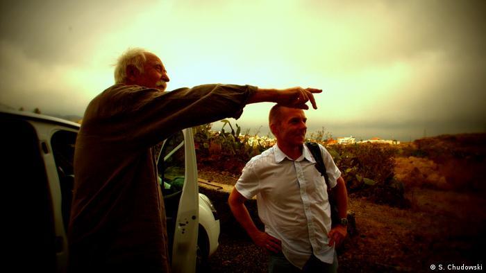Buchautor Janosch und der polnische Regisseur Wojciech Królikowski