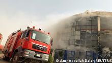 Ägypten Feuer in der Bekleidungsfabrik
