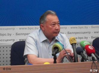 Курманбек Бакиев на пресс-конференции в Минске