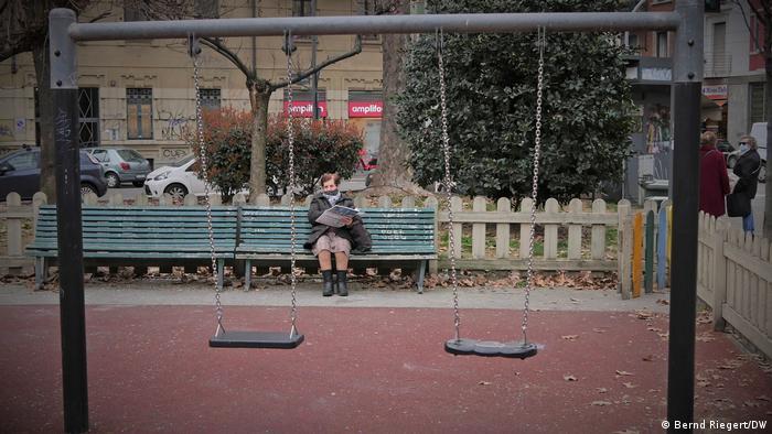 Порожній дитячий майданчик у Мілані
