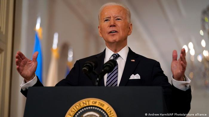 President Biden addresses the nation from the East Room of the White House