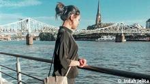 Indah Jelita, Indonesierin in Frankfurt am Main (2019) --- Frau Jelita hat uns diese Bilder zur Verfügung gestellt zur Verwendung in ihrem Blog-Beitrag: Warum ich meine Stadt Frankfurt am Main liebe. Zulieferung: 12.3.2021 --- ***NUR für den Blog-Beitrag von Frau Jelita zu benutzen!!!***