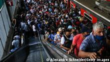 Brasilien | Coronakrise: Bahnstation in Sao Paulo