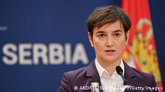 Serbien Ministerpräsidentin Ana Brnabic