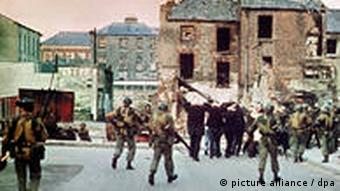 British soldiers in Londonderry on 'Bloody Sunday', January 30 1972