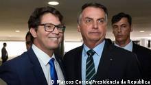 Brasiliens Präsident Jair Bolsonaro und Sonderminister für Kultur Mário Frias