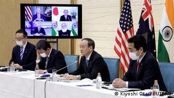 Quadrilateraler Sicherheitsdialog I Joe Biden I Yoshihide Suga I Narendra Modi I Scott Morrison