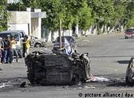 Destroços em Jalal-Abad após os choques étnicos