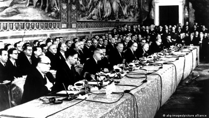 Подписание Римских договоров 25 марта 1957 года