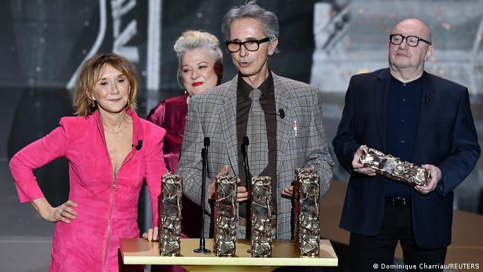 Actors receive awards at the 46th Cesar Awards in Paris
