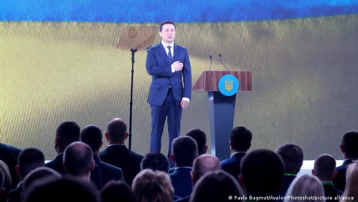 Володимир Зеленський на з'їзді партії Слуга народу в березні 2021 року