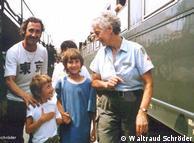 Kryqi i Kuq  gjerman organizon transportin e refugjatëve.