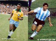 مارادونا و پله، ۱۰های استثنایی عالم فوتبال