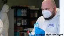 Deutschland Coronavirus l Testzentrum in Linken, Grenze zu Polen