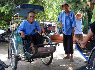 75 year old Oum Sok has been a cyclo driver since he was just 18