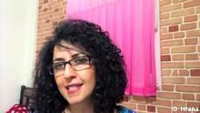 """Narges Mohammadi ist eine iranische Menschenrechtsaktivistin und Vizepräsidentin des """"Defenders of Human Rights Center"""". Quelle: Hrana"""