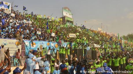 Idriss Déby, donnant le coup d'envoi de sa campagne présidentielle