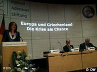 Η Ντόρα Μπακογιάννη σε πρόσφατη επίσκεψή της στο Βερολίνο (14.06.2010)