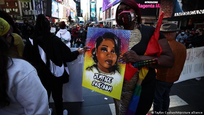 Hundreds of BLM protesters gathered at the Times Square and marched on streets for Breonna Taylor in New York City
