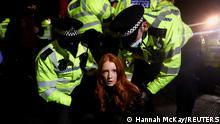 UK Mahnwache für Sarah E. in Clapham Common London