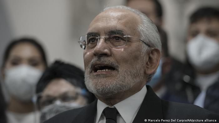 El líder opositor Carlos Mesa.