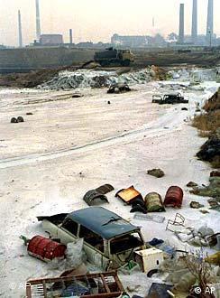 Pólo químico de Bitterfeld causou grande contaminação na Alemanha Oriental