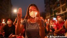 Myanmar I Proteste in Yangon