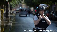 PARIS, FRANCE - JUNE 06: Notre-Dame neighbourhood is surrounded by police after a man struck a police officer with a hammer on June 6, 2017 in Paris, France. (Photo by Pascal Le Segretain/Getty Images)