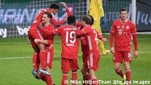 Fußball 1. Bundesliga I SV Werder Bremen - FC Bayern München I Jubel Serge Gnabry