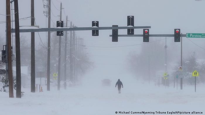 USA Wyoming Schneesturm