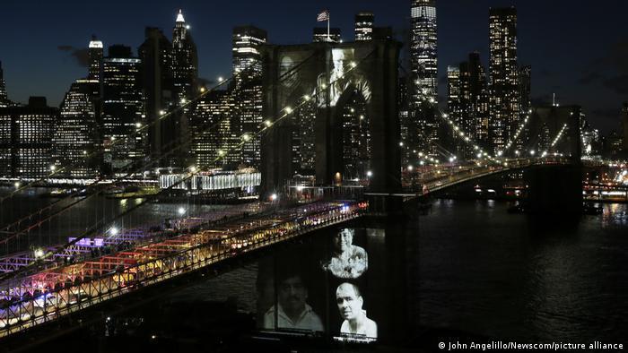 New York Gedenken COVID-19 Opfer