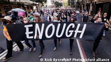 Australien Sydney Anti Mysogenie Protest