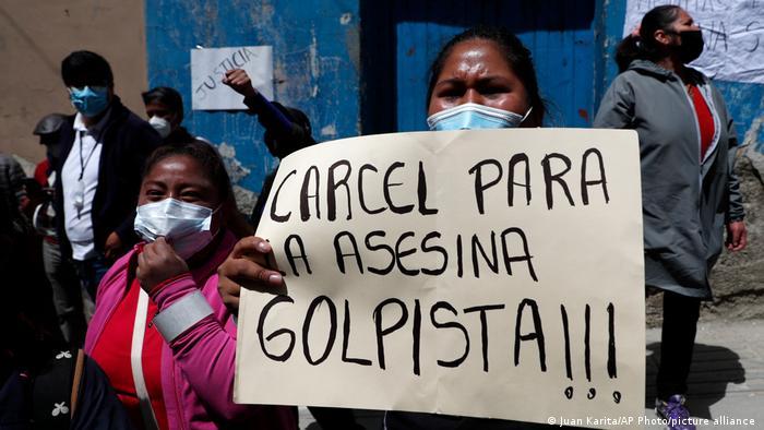 Bolivia: Ex-president Anez to serve pre-trial detention | News | DW |  15.03.2021