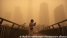 China Sandsturm in Peking