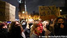 Weltspiegel 15.03.2021 | Großbritannien London | Protest nach Mord an Sarah Everard