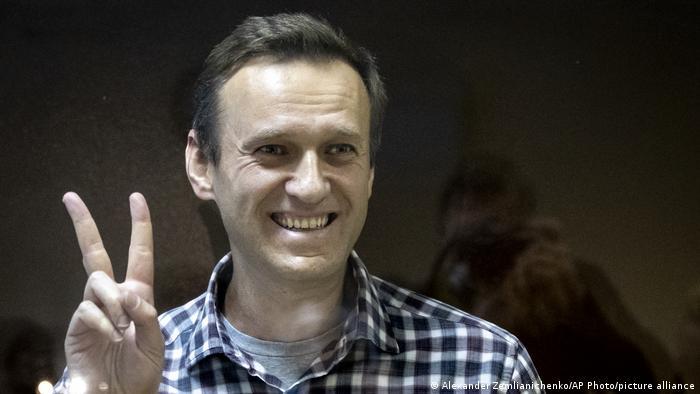 Aleksej Navaljni, na sudu u Moskvi 20.02.2021. U međuvremenu je stupio u štrajk glađu u zatvoru.
