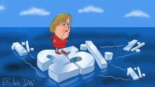 Karikatur von Sergey Elkin zu Landtagswahlen in Baden-Württemberg und Rheinland-Pfalz