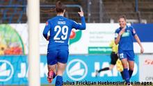 14.03.2021, xfrx, Fussball 1.Bundesliga Damen, Turbine Potsdam - SC Sand emspor, v.l. Selina Cerci 1.FFC Turbine Potsdam,Nina Ehegoetz 1.FFC Turbine Potsdam celebrate the goal,Torjubel zum 1:0 DFL/DFB REGULATIONS PROHIBIT ANY USE OF PHOTOGRAPHS as IMAGE SEQUENCES and/or QUASI-VIDEO Babelsberg *** 14 03 2021, xfrx, Fussball 1 Bundesliga Damen, Turbine Potsdam SC Sand emspor, v l Selina Cerci 1 FFC Turbine Potsdam ,Nina Ehegoetz 1 FFC Turbine Potsdam celebrate the goal,Torjubel zum 1 0 DFL DFB REGULATIONS PROHIBIT ANY USE OF PHOTOGRAPHS as IMAGE SEQUENCES and or QUASI VIDEO Babelsberg
