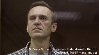 Alexeï Navalny lors de son procès en février dernier