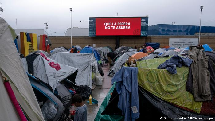 Mexiko Grenze USA El Chaparral Migranten Camp